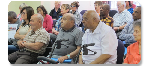 Community members attending a seminar at our centre